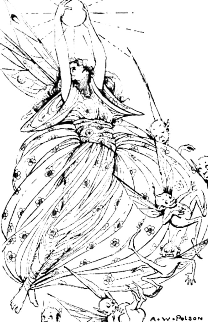Queen Of Fairies Coloring Page Queen Of Fairies Coloring