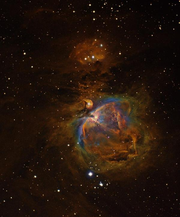 M42 Hubble Palette | Narrowband image of the M42 (Orion ...