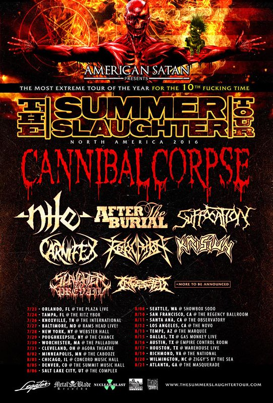 Summer Slaughter at Rams Head Live