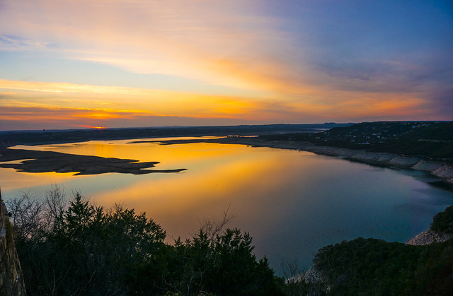 Lake Travis Sunset - Austin, Texas 2014