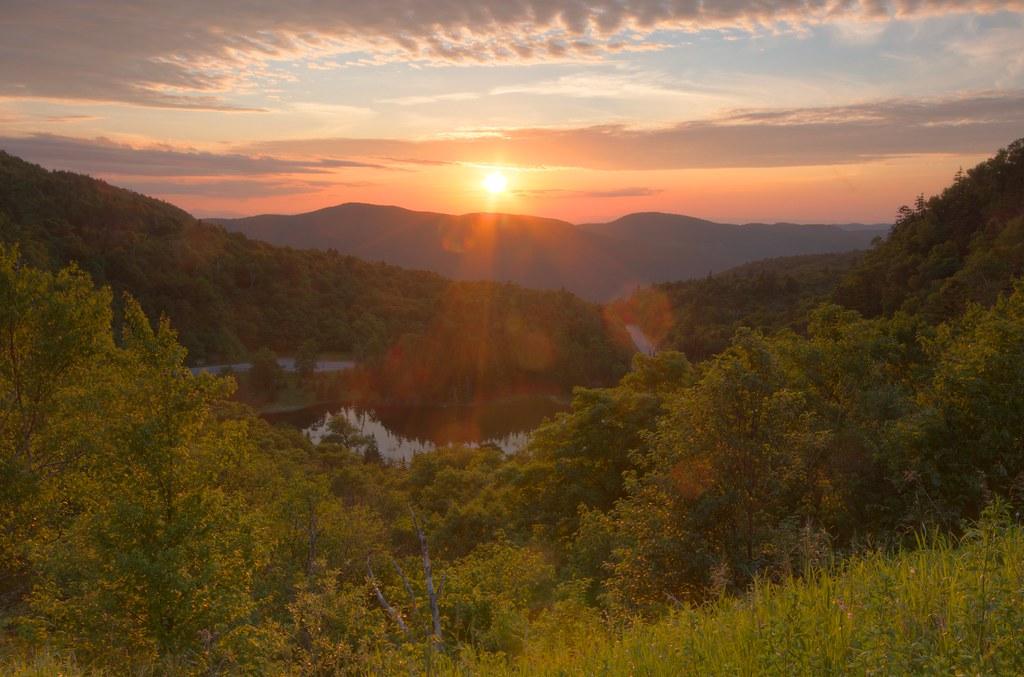 Sunset From Appalachian Gap A Beautiful Summer Day Ends