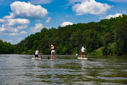 Kayaking and SUP on Saluda Lake-10