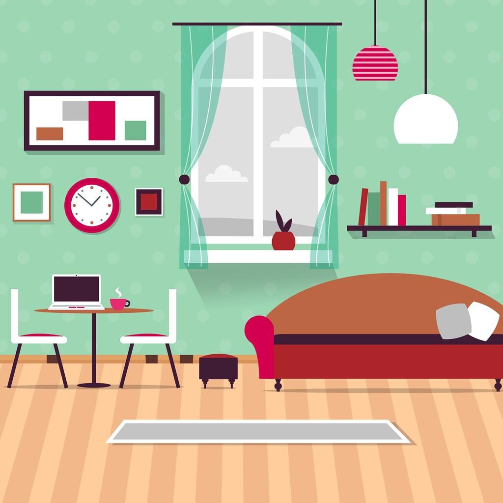 Home Interior Illustration Living Room Small