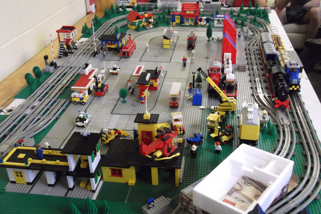 The 12v Lego Train Layout We Got Out Some Of Our Old