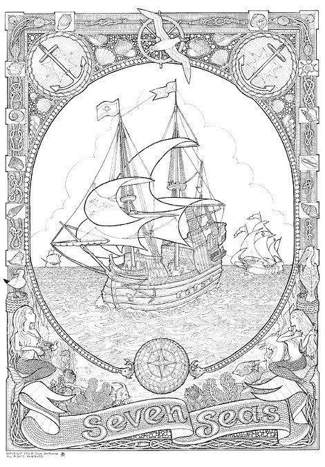 DoodleNation Giant Colouring In Poster Seven Seas Flickr