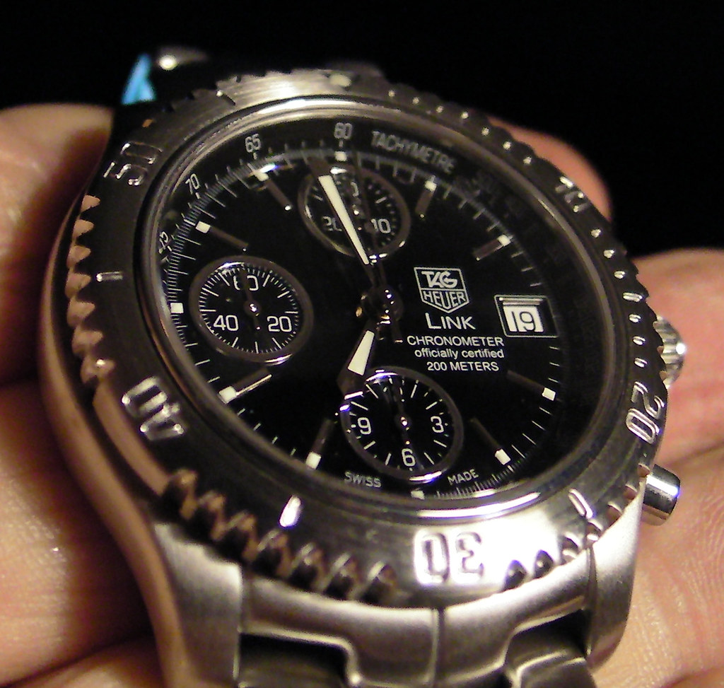 TAG Heuer Link Mens Automatic Chronograph Tiger Woods