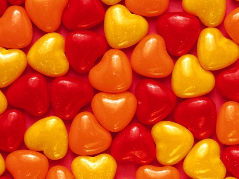 Free Hearts Candy Wallpaper Free Valentines Day Wallpap