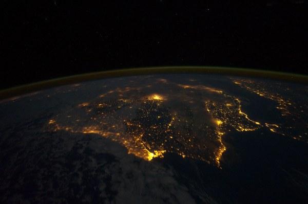 Iberian Peninsula at Night (NASA, International Space Stat ...