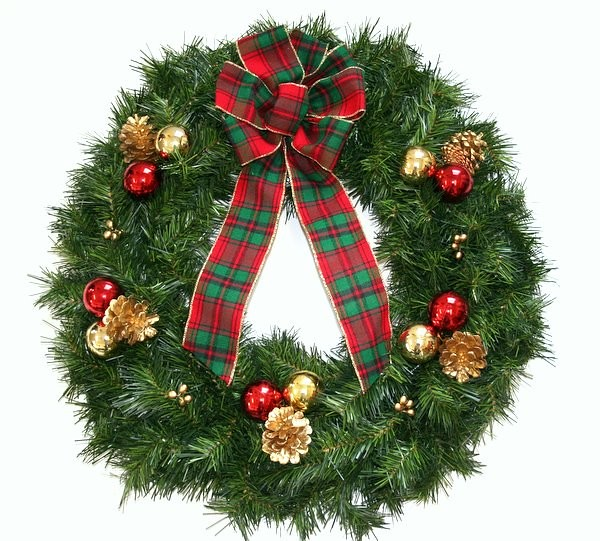 High Quality Gold Artificial Pine Wreath You Can