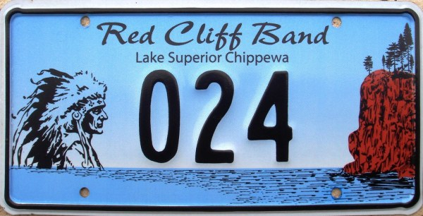 Red Cliff Band of Lake Superior Chippewa License Plate ...