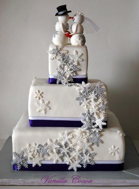Snowflake Wedding Cake My First Winter Wedding Cake