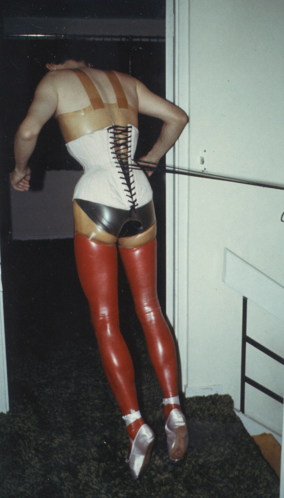 Tight Lacing On Pointe Latextex Dressed In His Favorite