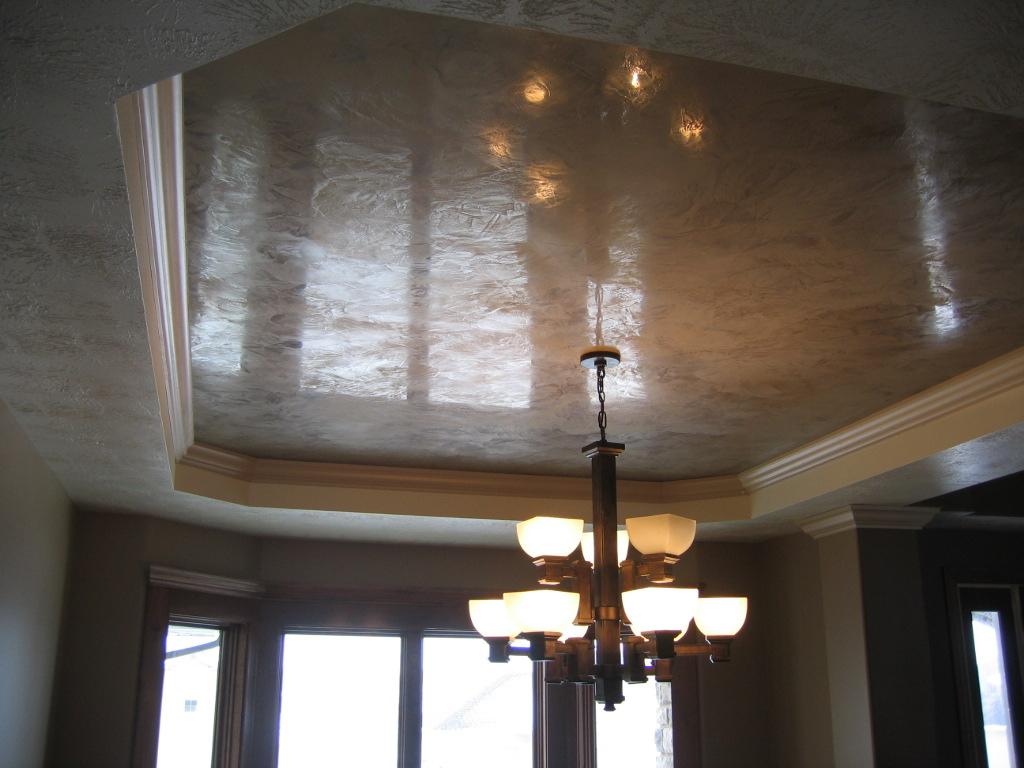 Dining Room Tray Ceiling Italian Venetian Plaster Be