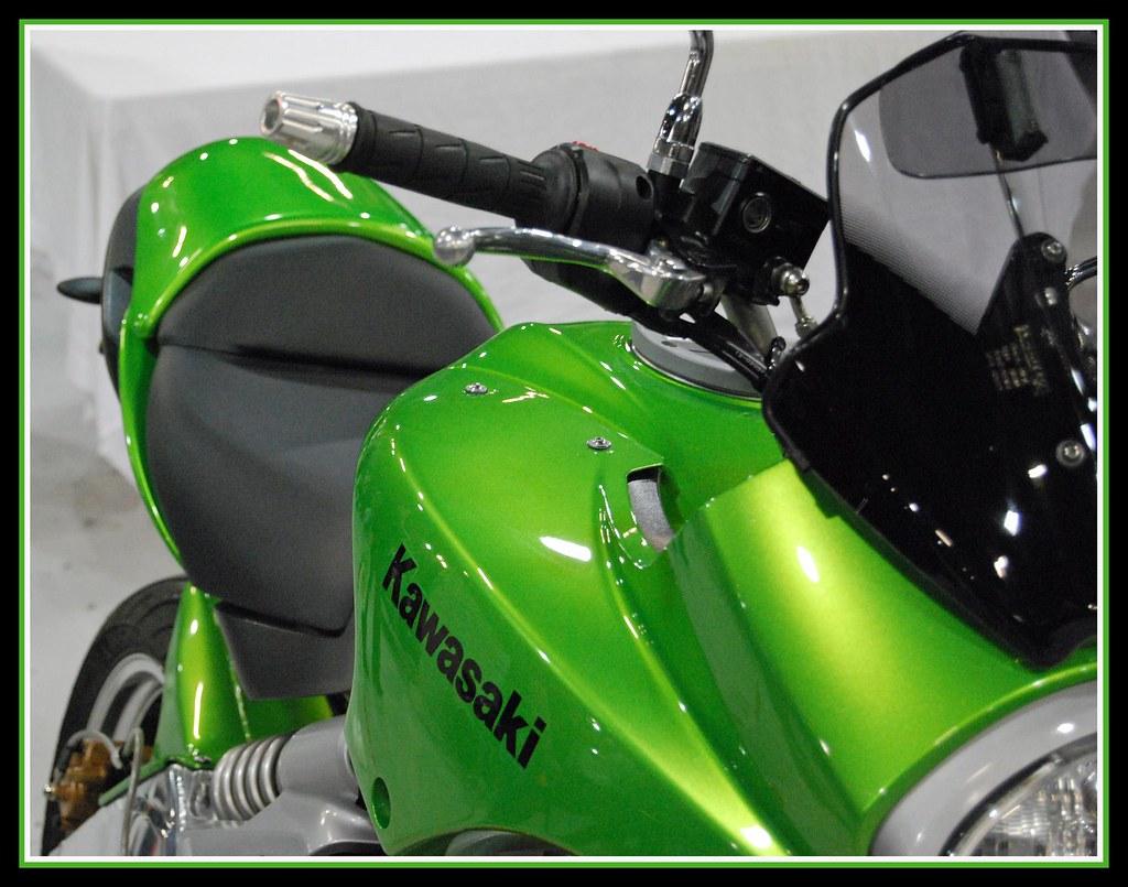 Customised Kawasaki Green Versys