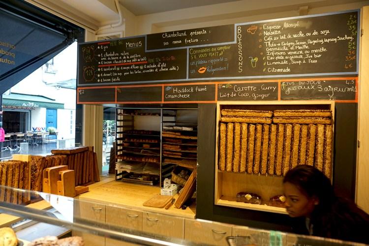 Boulangerie Chambelland gluten free bakery restaurant in Paris, France