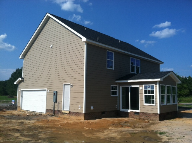 Westover A Featuring Covered Rear Porch Side Load Garage