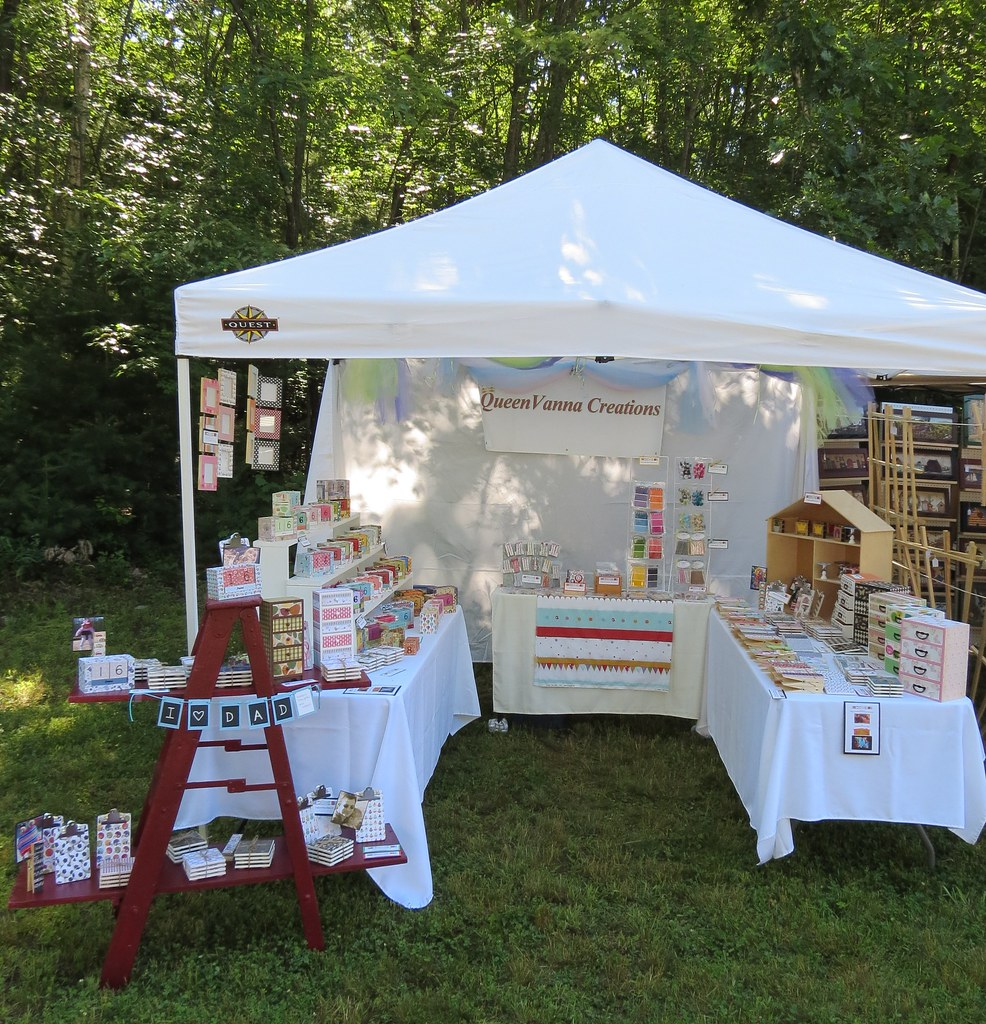 Queenvanna Creations Craft Show Display June 17 2012