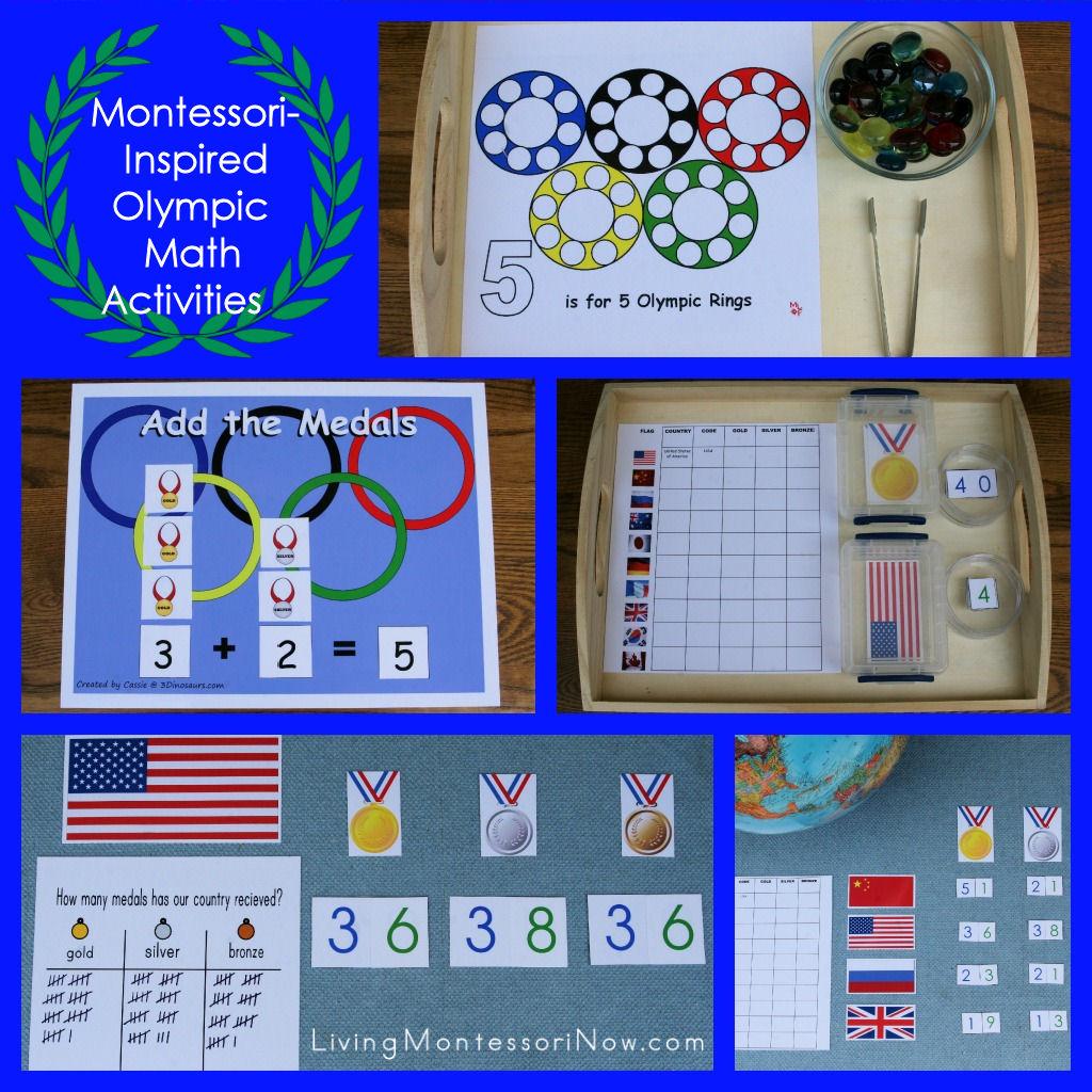Montessori Inspired Olympic Math Activities