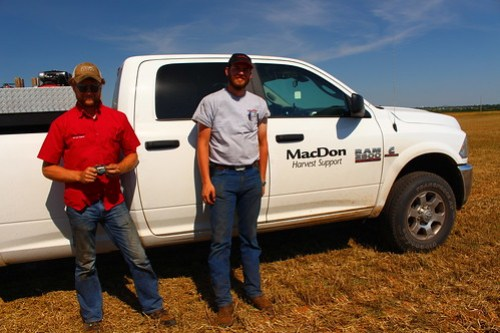 Bruce and Joshua of MacDon Harvest Support.
