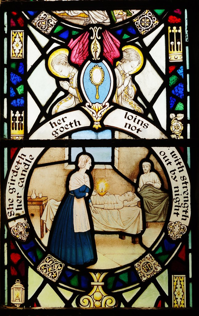 Florence Nightingale Stained Glass Window In St Aidan S