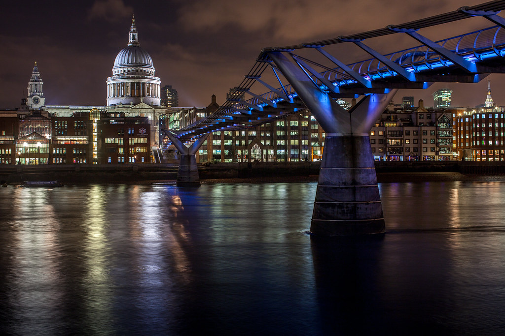 London Millenium Bridge Tate Modern Museum Saint Paul S Ca