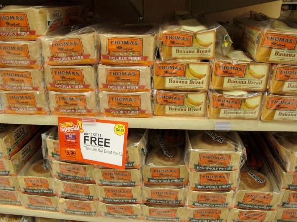 Thomas39 English Muffins Hearty Honey Wheat Banana Bread