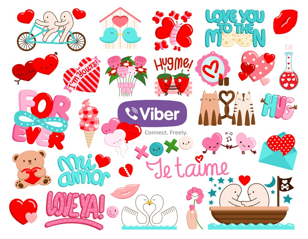Vibers Love Stickers Sasa Elebea Flickr