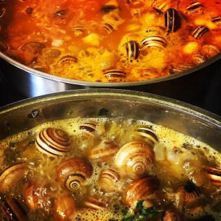 Caracoles en salsa. Koketo