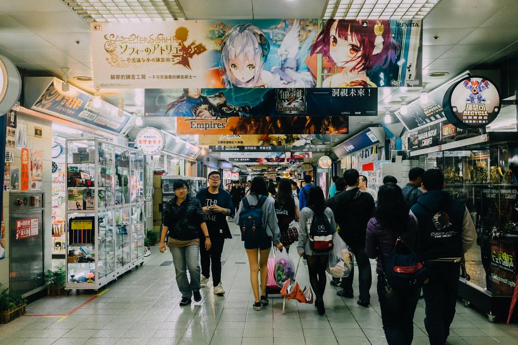 Uno de los 2 pasillos de casi 1 km que forman Taipei City Mall