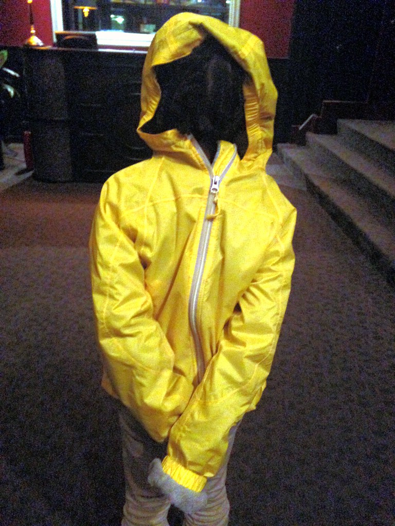 Girl Wearing Yellow Windbreaker Backwards Steven Depolo