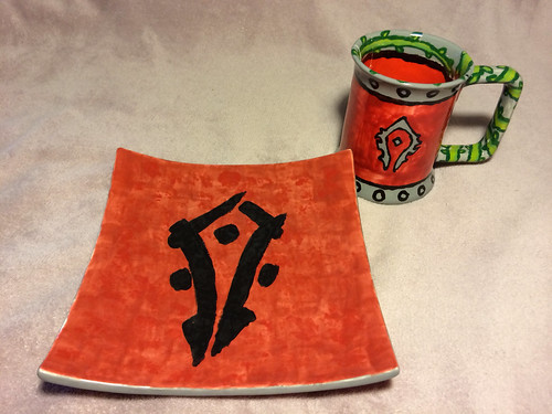 Horde plate and mug