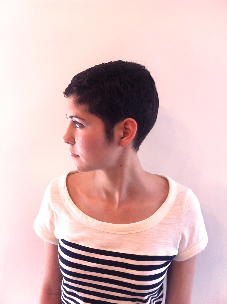 Side View Of Short Pixie Haircut Haircut That Was Cut By