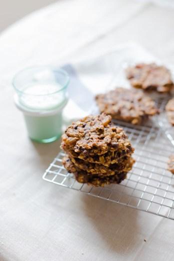 Oatmeal and Chocolate Breakfast Cookies