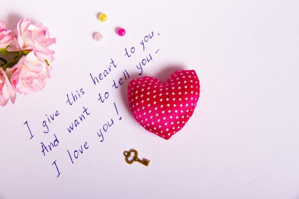 Awww. Kudos for the pincushion heart, fake key and tinted flowers. (Image credit: Shutterstock)
