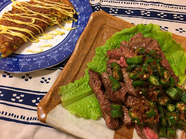 肉と納豆オムレツ