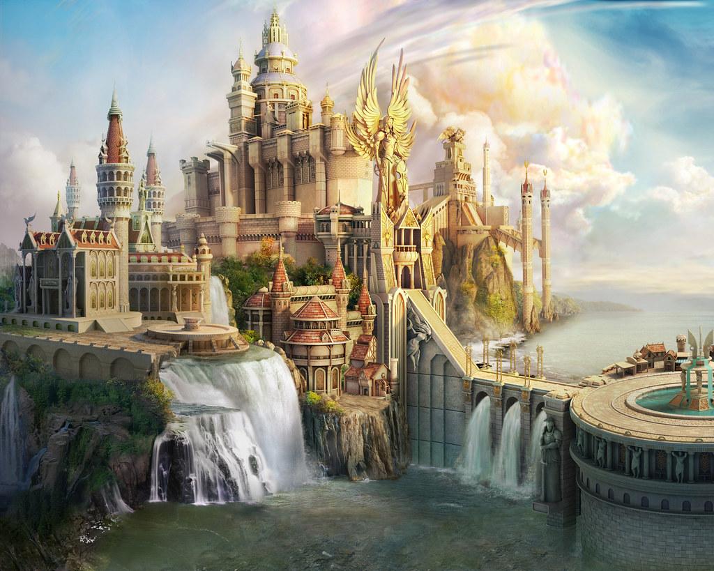 Fantasy World Angel Castle Maximaxoo Flickr