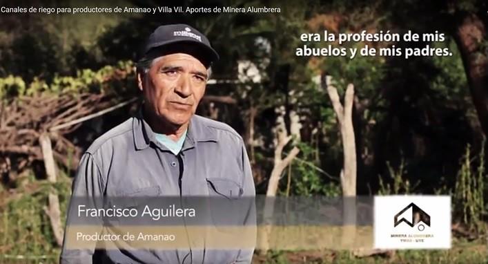 Francisco Aguilera Productor de Amanao