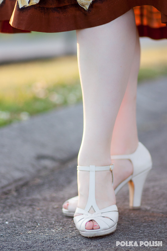 BAIT Lacey pumps in cream from Royal Vintage Shoes