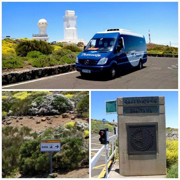 Entrada observatorio del Teide