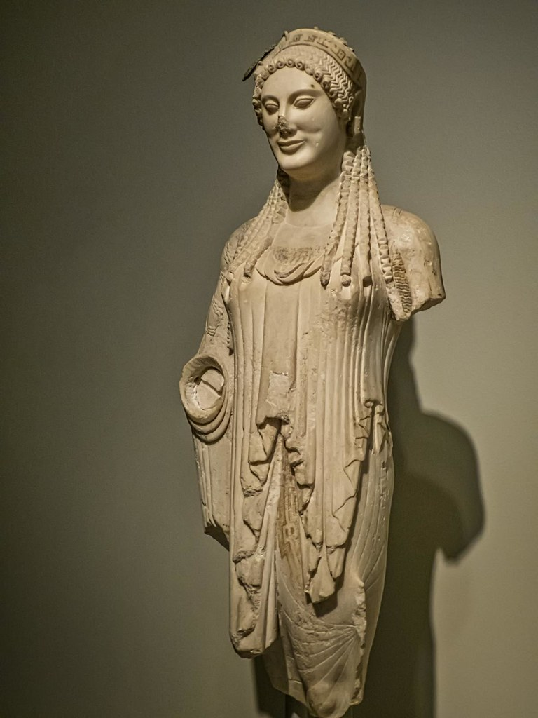 Votive Kore Statue Of A Young Woman From The Athenian Ac