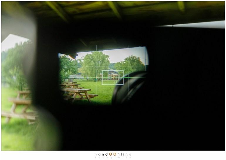 Een blik door de zoeker van de X-Pro II ; niet bepaald het sterkste punt van de deze camera. Ten minste, voor gebruik bij landschapsfotorgafie