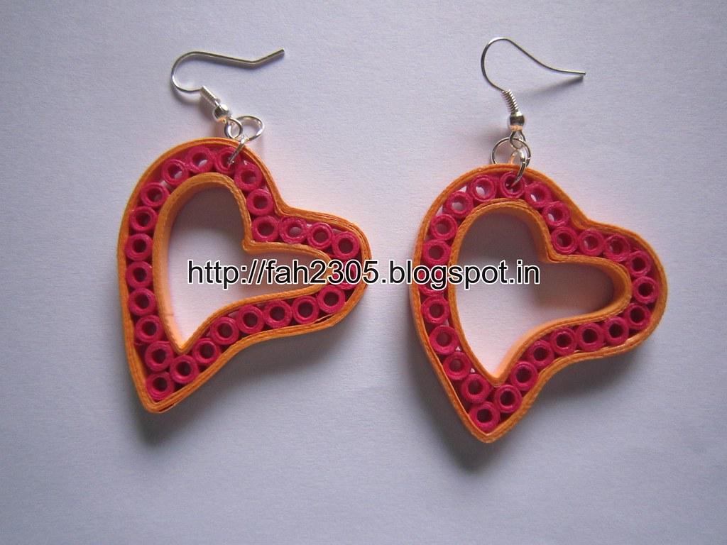 Handmade Jewelry Paper Quilling Heart Earrings 2 Flickr