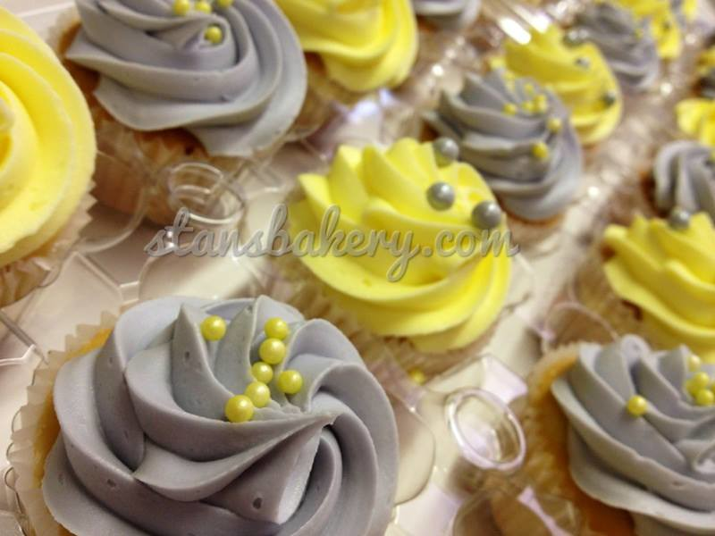 Yellow And Grey Cupcakes Wedding Cupcakes Stans