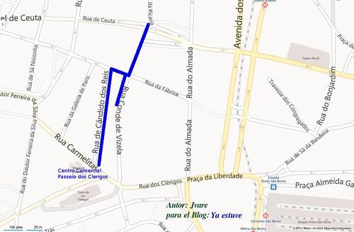 Calles nuevas de copas en Oporto