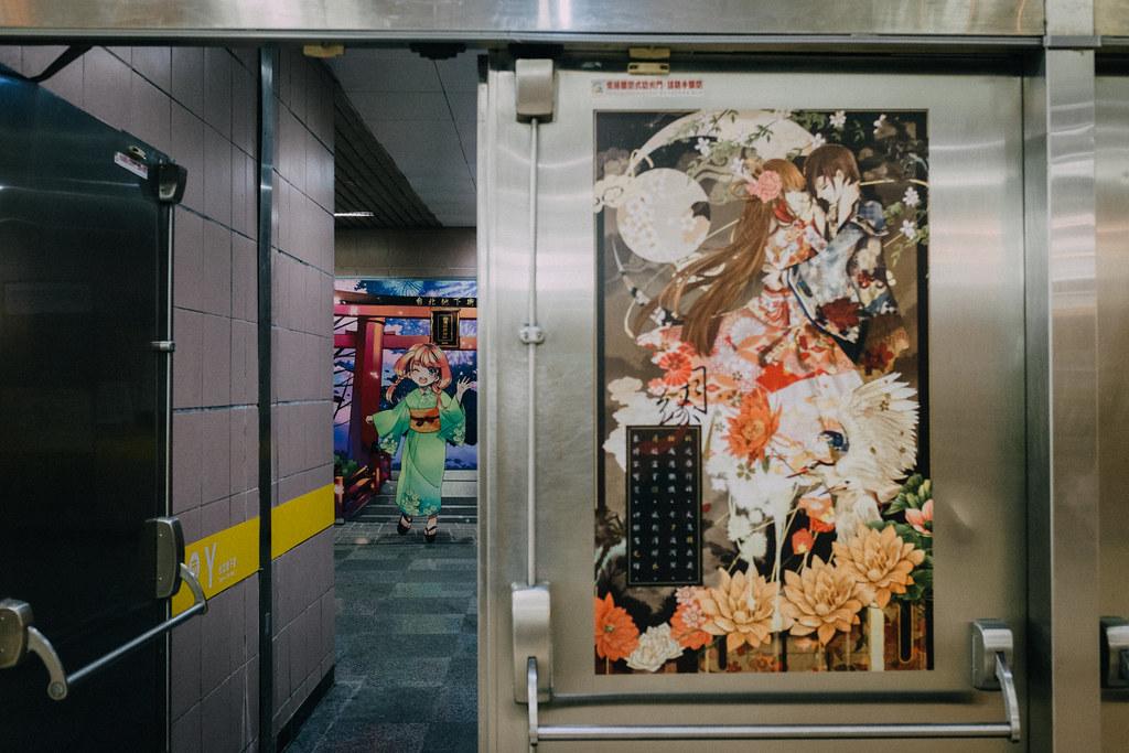 Una vez que llegas a Taipei City Mall, los anime no dejan lugar a dudas que estás en el lugar correcto