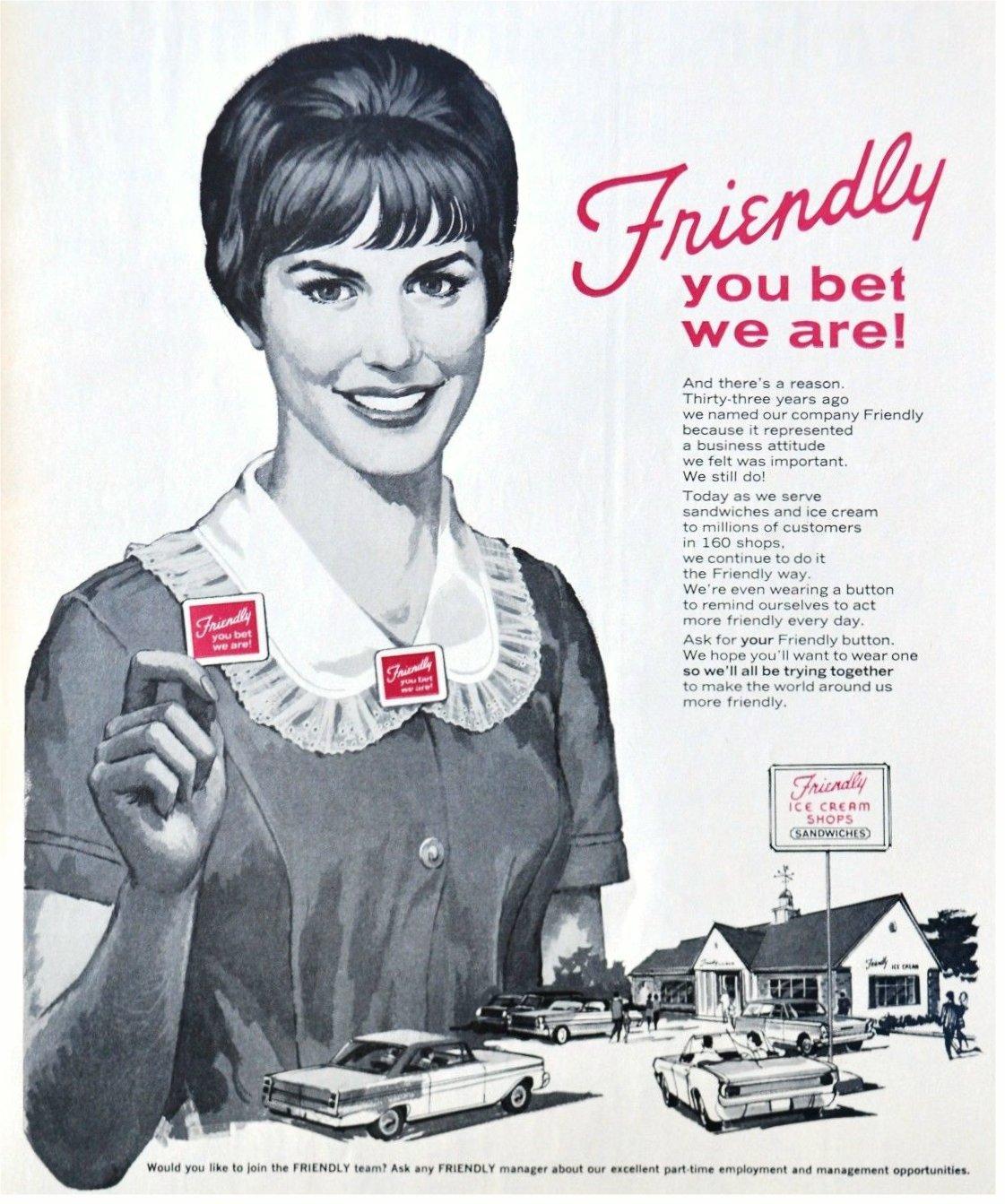 Friendly Ice Cream Shops - 1966