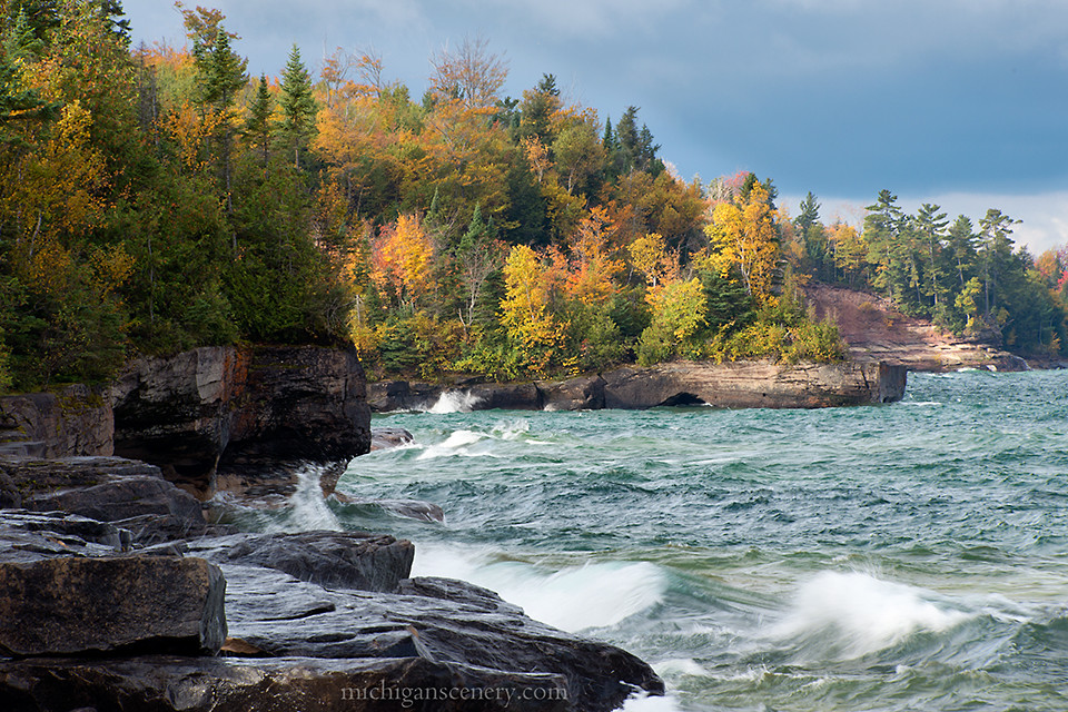 Stormy Afternoon At Paradise Point Christmas Michigan By