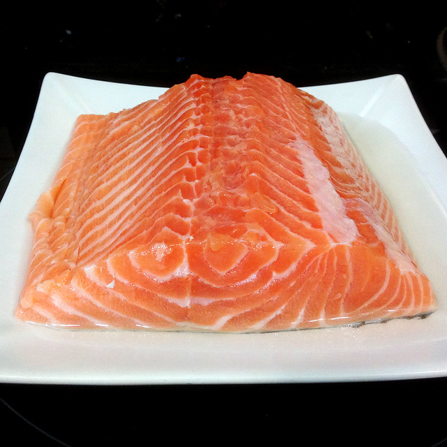 Lomo de salmón para tataki