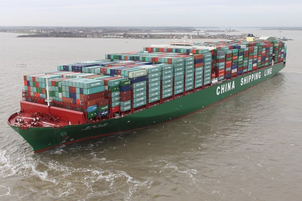 CSCL Globe Worlds largest container ship. 'Explored 7th/Ja ...