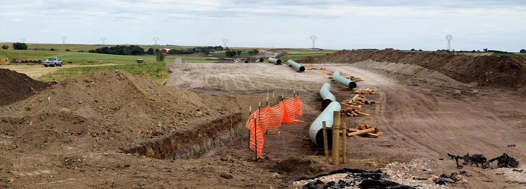 The pipeline in construction, Image: Flickr.